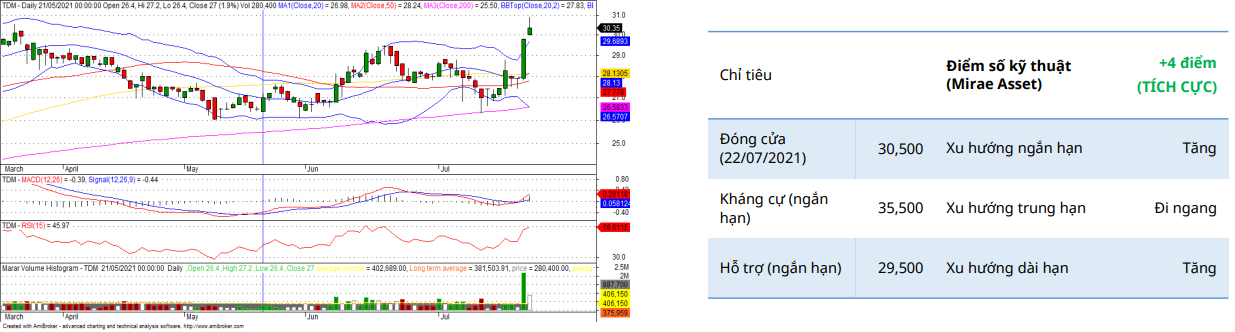 TDM Daily Chart